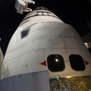スペースシャトルの大型模型