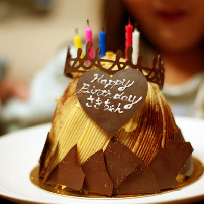 王様のモンブランバースデーケーキ