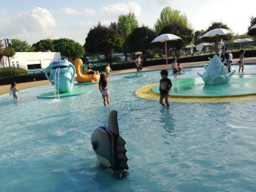 国営昭和記念公園 水遊び広場 レインボープール