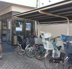 広い駐輪場