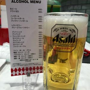 一人から頼めるアルコール飲み放題は1,480円