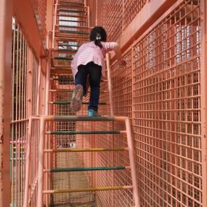 【スカイ・ケイジ】三層に分かれたゲイジを登り降りして出口へ