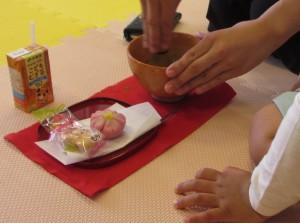 春の和菓子とお抹茶