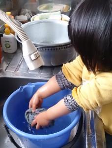 終わった後は洗ってね。これも水遊び?