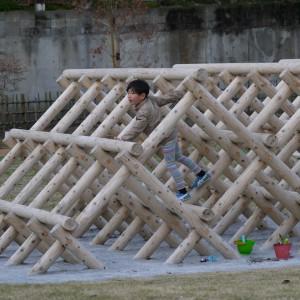 木製ジャングルジム