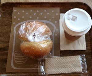 パンとコーヒーを買ってしまいました